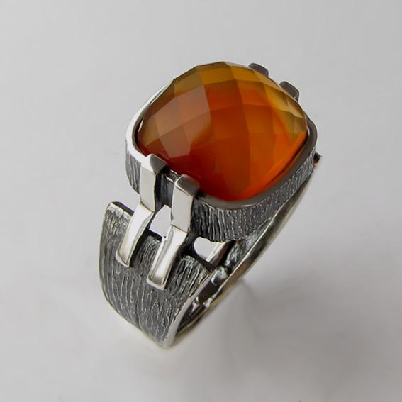Кольцо с сердоликом, арт. МПГ3