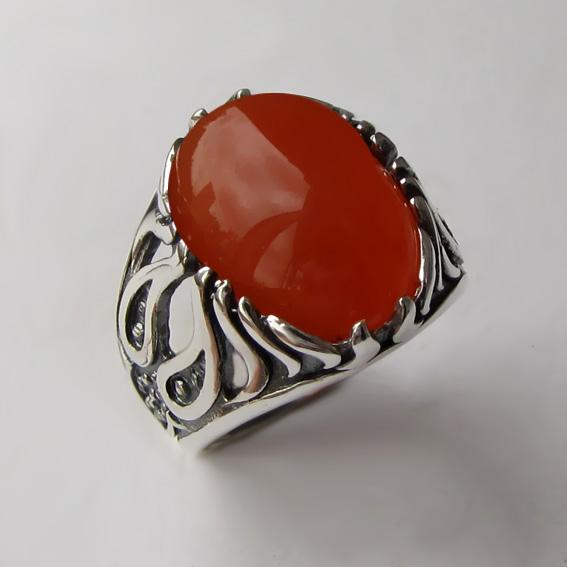 Серебряное кольцо с сердоликом, арт. ОГ3