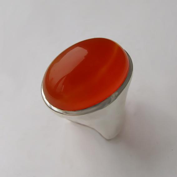 Кольцо с сердоликом, арт. ОВН313
