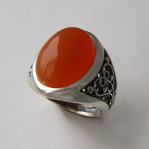 Кольцо с сердоликом, арт. ПЕРОВ3