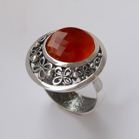 Кольцо с сердоликом, арт.УЗ312Г