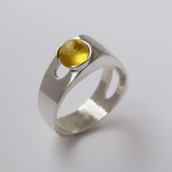 Кольцо с цитрином, арт. БАК3