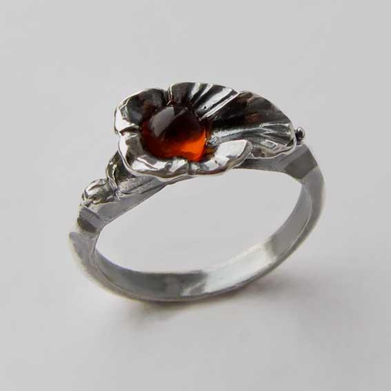 Кольцо с янтарем, арт. ЛИС35
