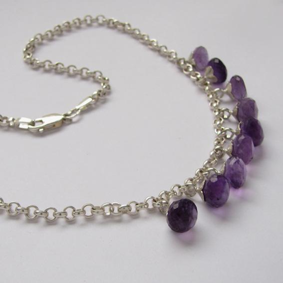 Ожерелье КОЛ10 с аметистом