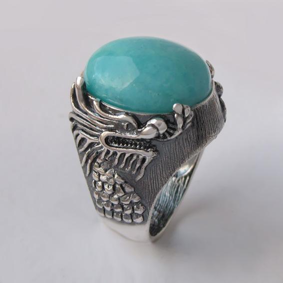 Кольцо с амазонитом, арт. ЕСФ315