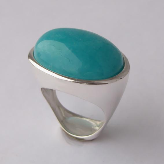 Кольцо с амазонитом, арт.ЭСО3