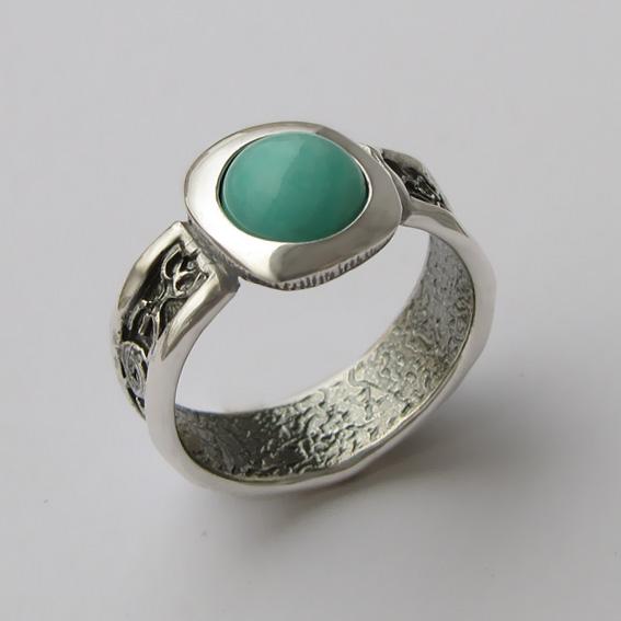 Кольцо с амазонитом, арт. ИЕ3