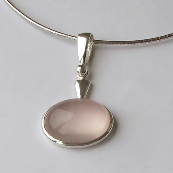Кулон серебряный с кварцем, арт. ОВП113В