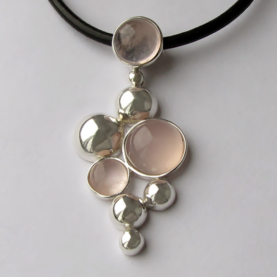 Кулон из серебра с кварцем, арт. ВИ1К