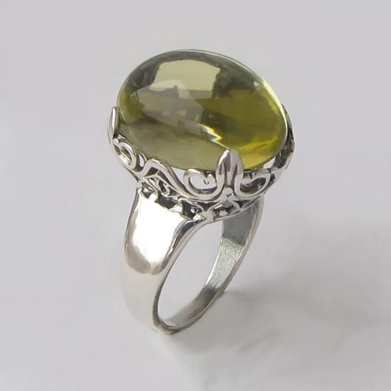 Кольцо с цитрином, арт. КОР313