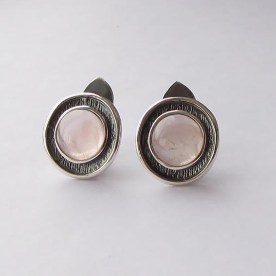 Серьги серебряные с кварцем, арт. МСБ4П
