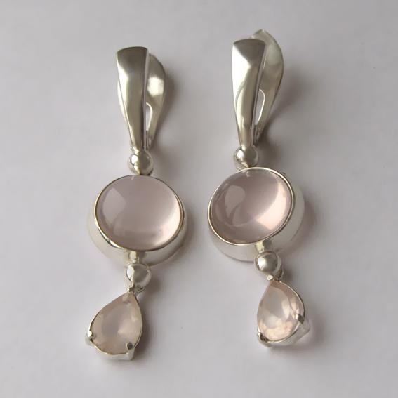 Серебряные серьги с кварцем, арт. НКСЛ411