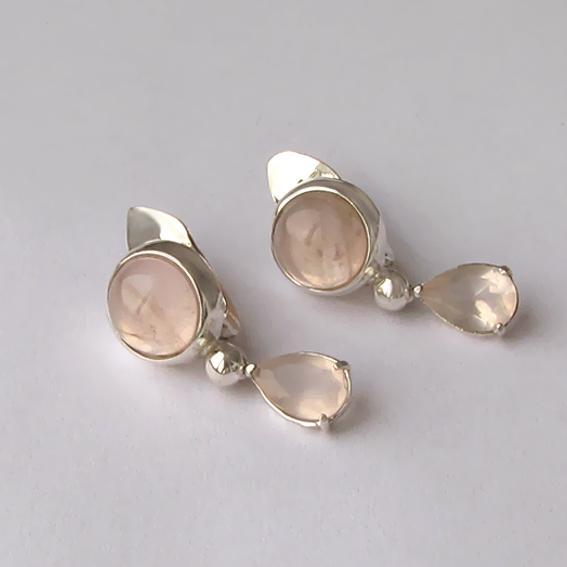 Серьги серебряные с кварцем, арт.НКСЛ4ПХ