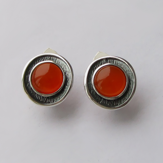 Серебряные серьги с сердоликом, арт. МСБ4П