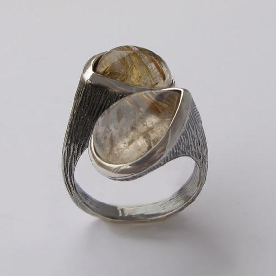 Кольцо с золотистым кварцем, арт.2СЛЧ3