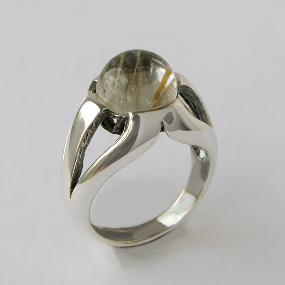 Кольцо с золотистым кварцем, арт. 5Л3