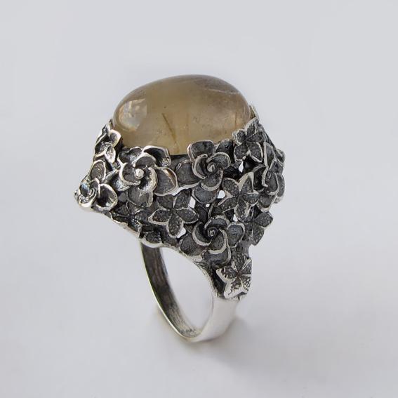 Кольцо с золотистым кварцем, арт.БУК3