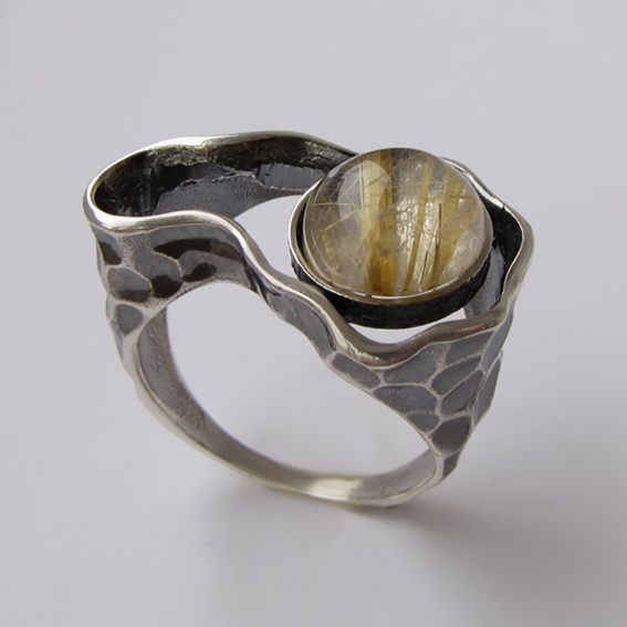 Кольцо с золотистым кварцем, арт.СДН3
