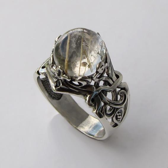 Кольцо с золотистым кварцем, арт.ЦИК3К