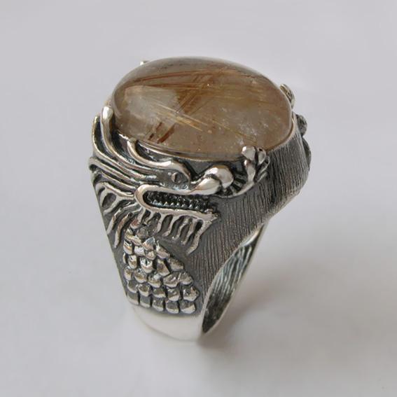 Кольцо с золотистым кварцем, арт. ЕСФ315