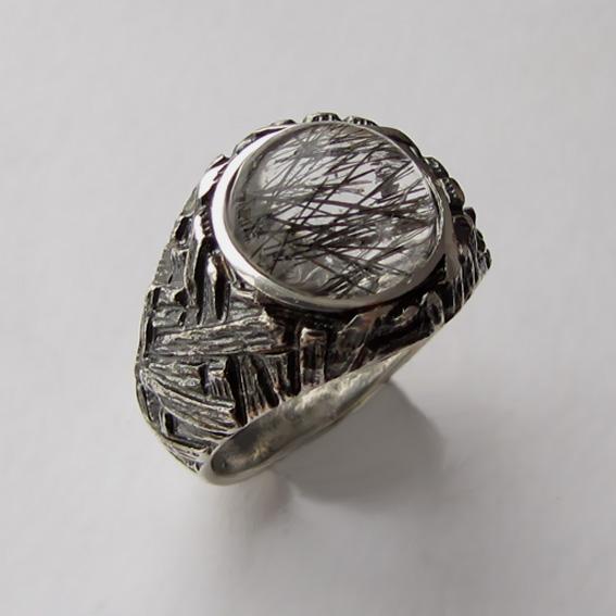 Кольцо с рутиловым кварцем, арт.ЭТ3