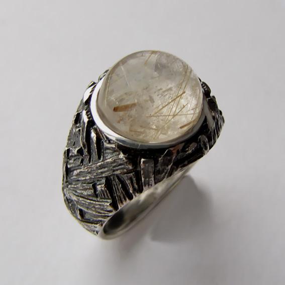 Кольцо с золотистым кварцем, арт.ЭТ3