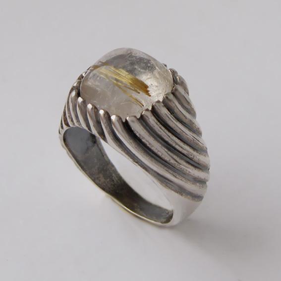 Кольцо с золотистым кварцем, арт.ЭТКВ3
