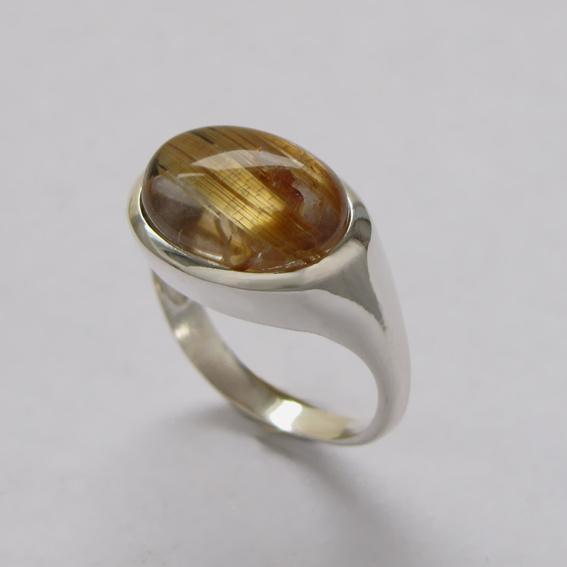 Кольцо КОВ310 с золотистым кварцем