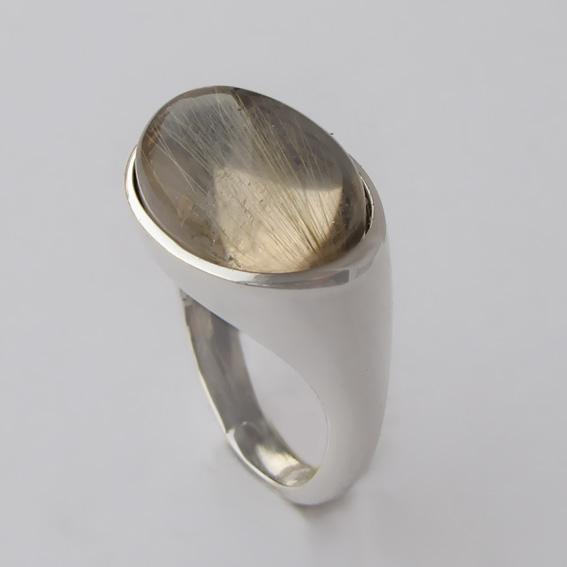 Кольцо КОВ312 с золотистым кварцем