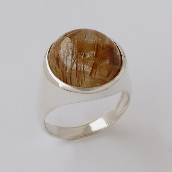 Кольцо с золотистым кварцем, арт. НКН316