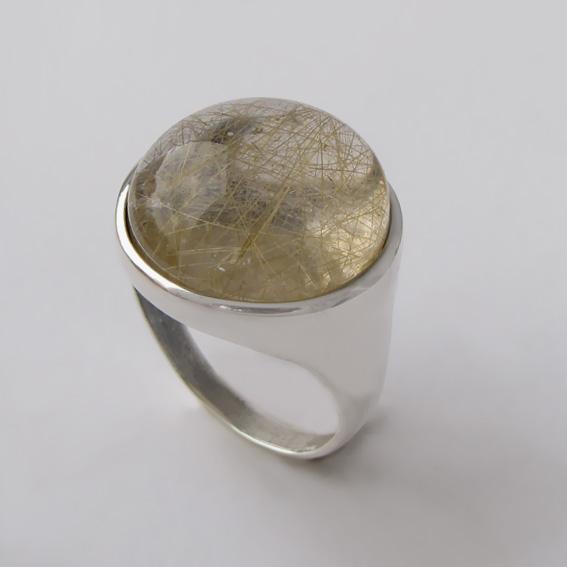 Кольцо с золотистым кварцем, арт. НКН320