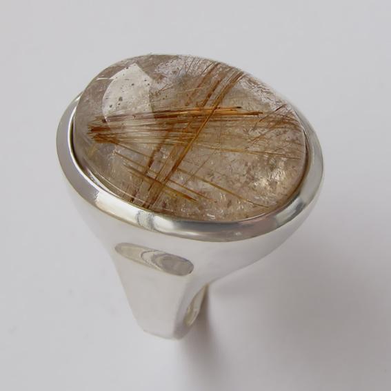 Кольцо с золотистым кварцем, арт.ОВН315