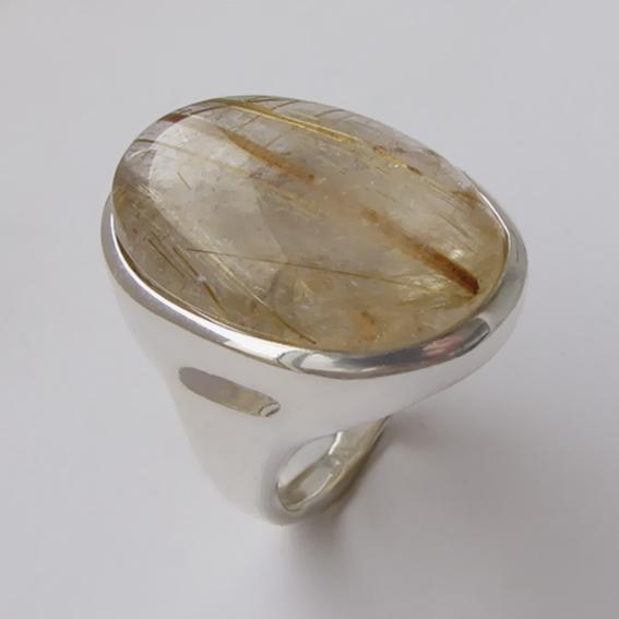 Кольцо с золотистым кварцем, арт.ОВН318