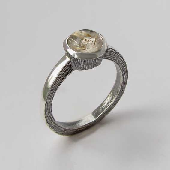 Кольцо с золотистым кварцем, арт. ПФ38