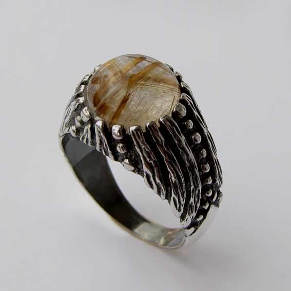Кольцо с золотистым кварцем, арт.ЭТ32
