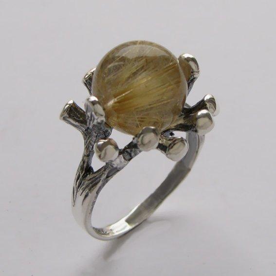 Кольцо с золотистым кварцем, арт.Р3