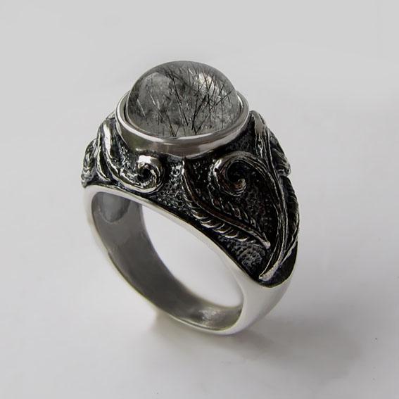 Кольцо с рутиловым кварцем, арт. ШАХ3М