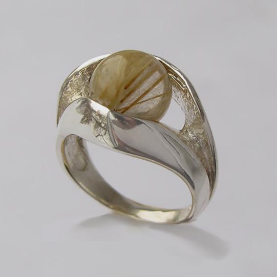 Кольцо с золотистым кварцем, арт. УЛ3