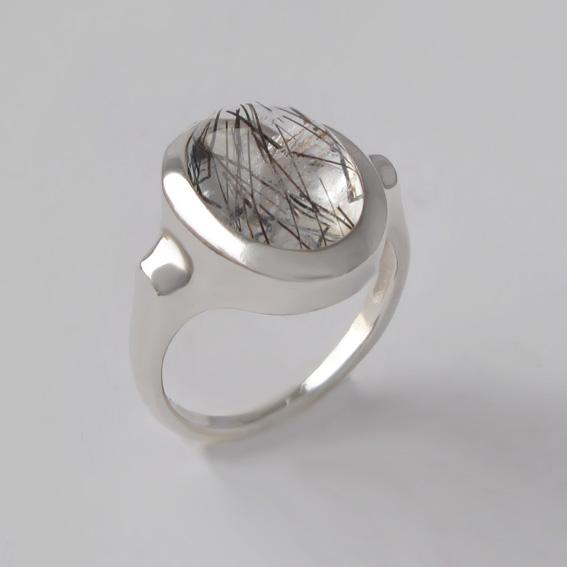 Кольцо с рутиловым кварцем ЗЕ310