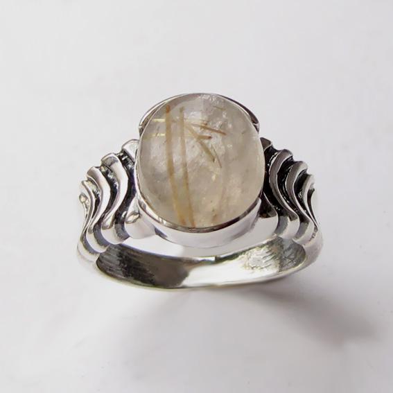 Кольцо с золотистым кварцем, арт. ЧЕШ3