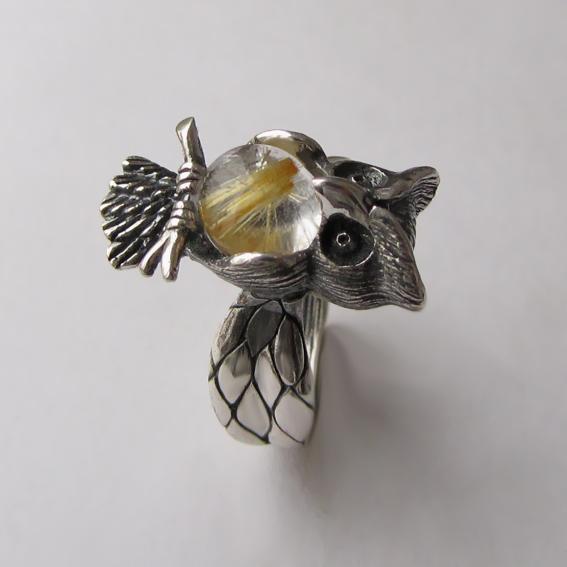 Кольцо с золотистым кварцем, арт.ФИЛ3