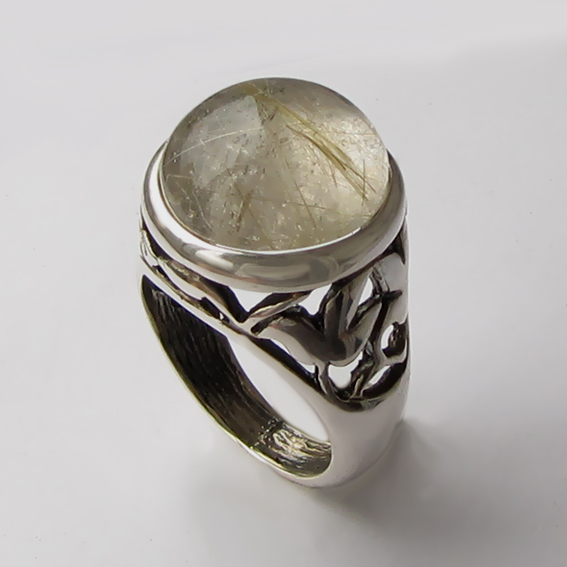 Кольцо с золотистым кварцем, арт. КУ314