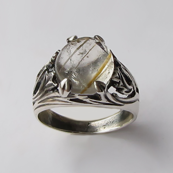Кольцо с золотистым кварцем ЛИА311