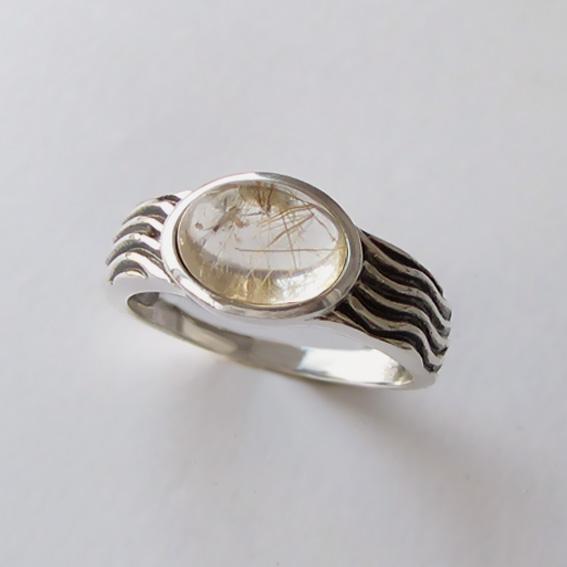 Кольцо с золотистым кварцем, арт. МОР3
