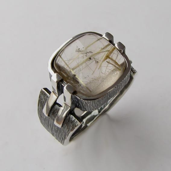 Кольцо с золотистым кварцем, арт.МП3