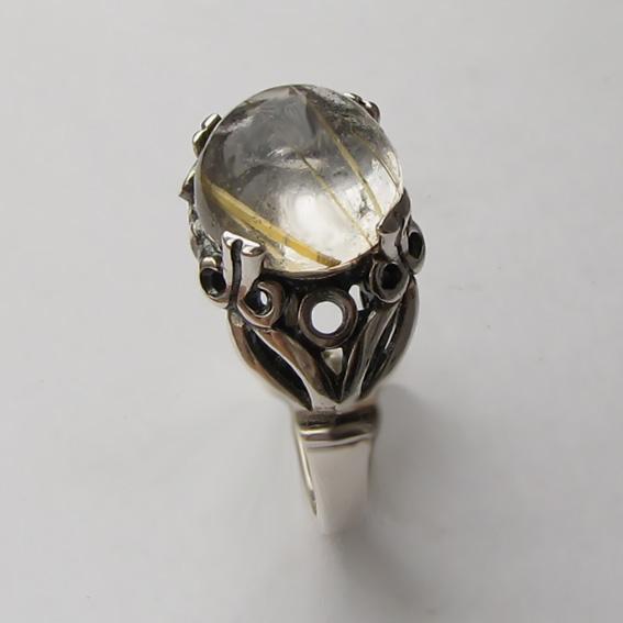 Кольцо с золотистым кварцем, арт. ЕФ3