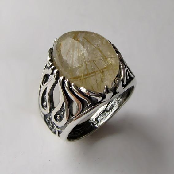 Кольцо с золотистым кварцем, арт. ОГ3