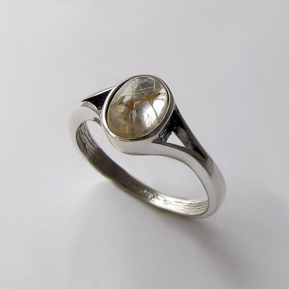 Кольцо с золотистым кварцем, арт. ОВМ36