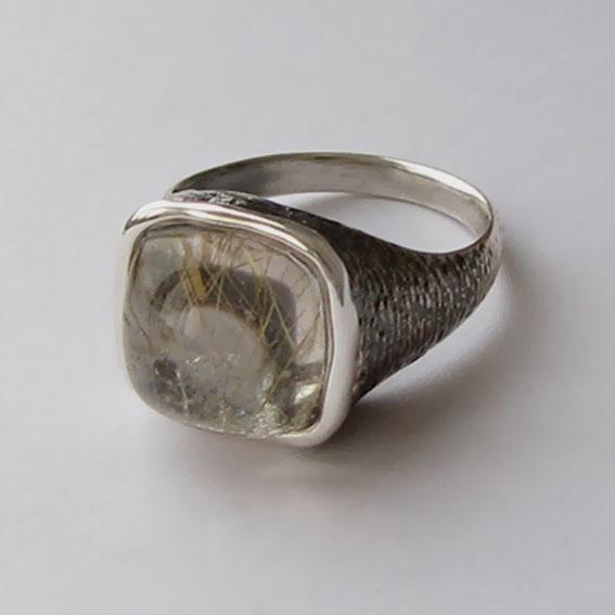 Кольцо с золотистым кварцем, арт. ПЕКВ3