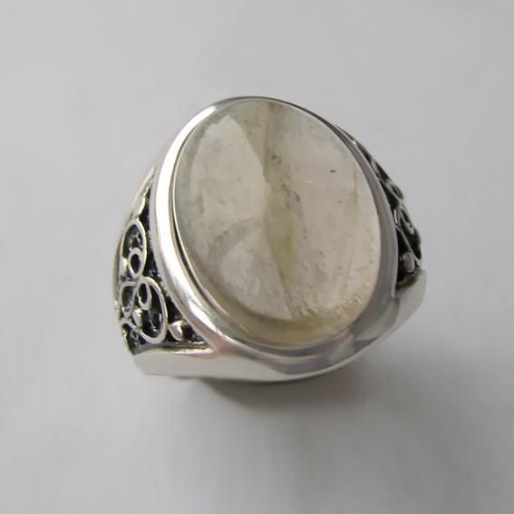Кольцо с золотистым кварцем, арт. ПЕРОВ3